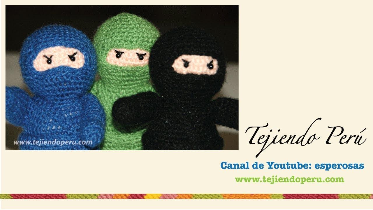 Ninja amigurumi tejido a crochet (Parte 1)