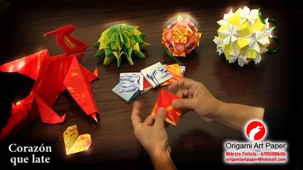 Origami Art Paper - Corazón que late