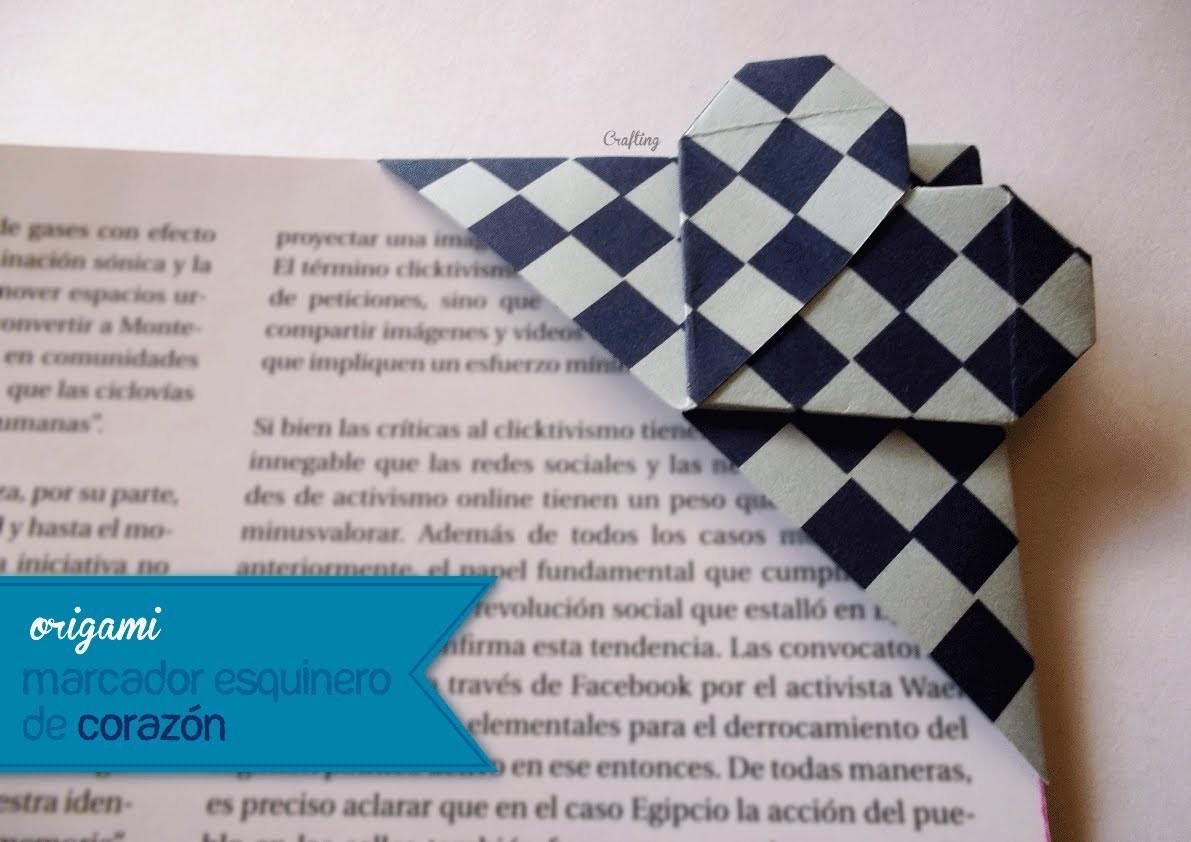 Origami - Marcador esquinero de corazón