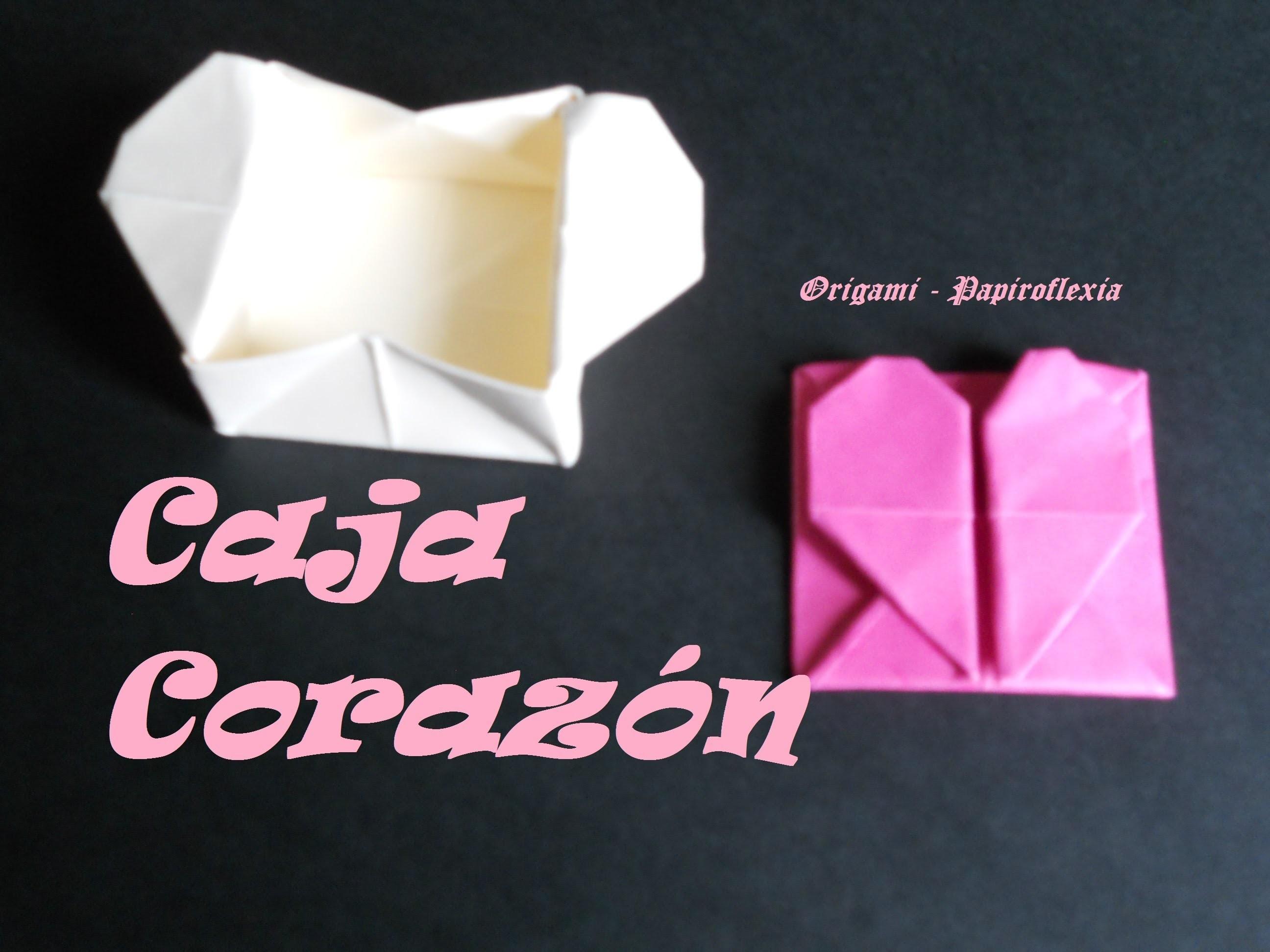 Origami - Papiroflexia. Caja corazón, fácil.