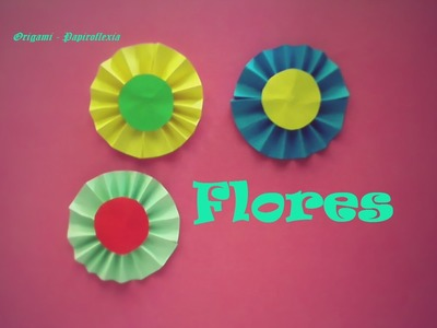 Origami - Papiroflexia. Flor de papel para decorar
