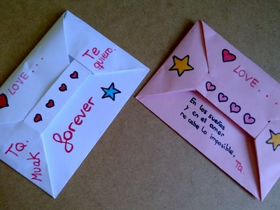 #Origami - Sobre para carta o carta desplegable!!