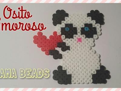 ❤ ❤ Osito Amoroso con Hama Beads ❤ ❤