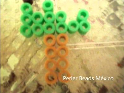 Paleta de pistache con perler beads