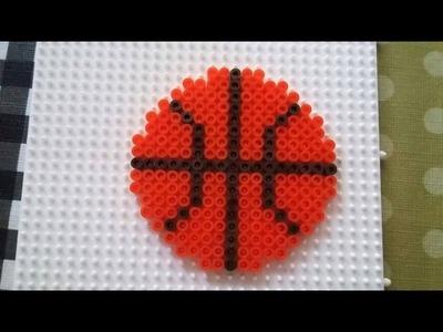 Pelota de baloncesto placa cuadrada hama beads