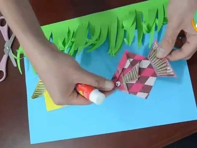 """Proyecto  """"Acuario en origami para niños  de primaria""""."""