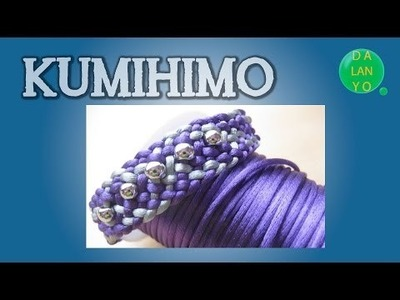 Pulsera morada y plateada | Kumihimo | Tutorial | DIY |