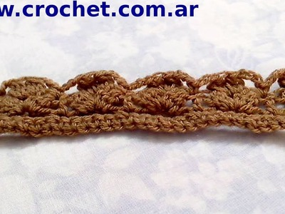 Puntilla N° 11 en tejido crochet tutorial paso a paso.