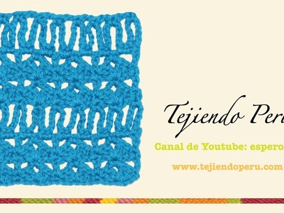 Punto fantasía # 29 tejido a crochet