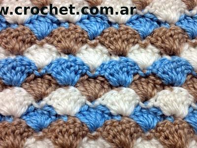 Punto Fantasía N° 26 en tejido crochet tutorial paso a paso.