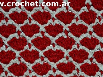 Punto Fantasía N° 33 en tejido crochet tutorial paso a paso.