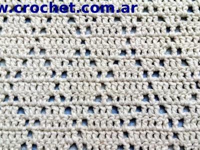 Punto fantasia N° 64 en tejido crochet tutorial paso a paso.