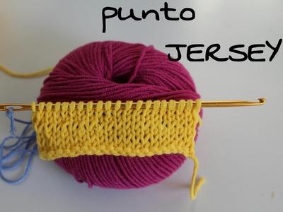 Punto Jersey paso a paso Ganchillo (Crochet ) # KNOOKING#