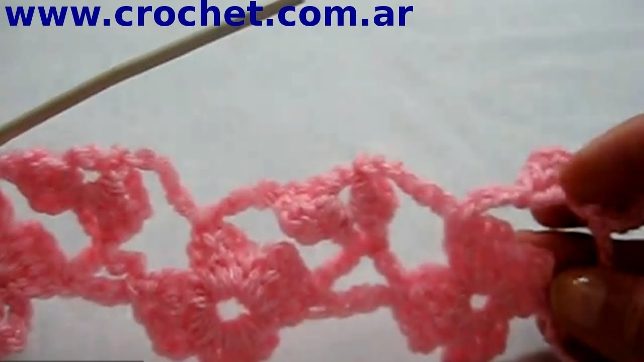 Punto Margarita (Parte 3) en tejido crochet tutorial paso a paso.