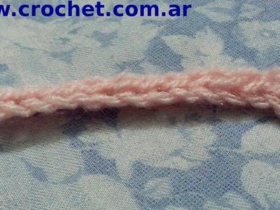 Punto raso en tejido crochet tutorial paso a paso.