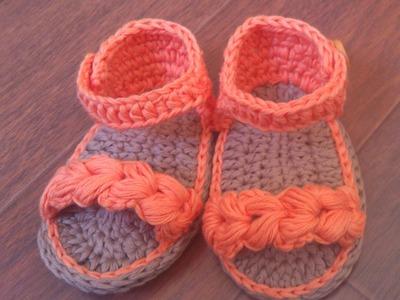 Sandalias de verano para bebé a Crochet - Parte 2