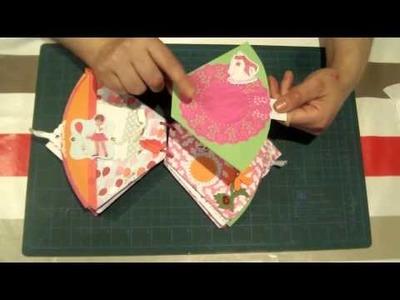 Scrapbooking ideas : Cómo hacer un minialbum con filtros de café ( para una niña) .