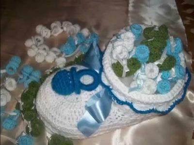 Souvenir y canastas en crochet,ganchillo.
