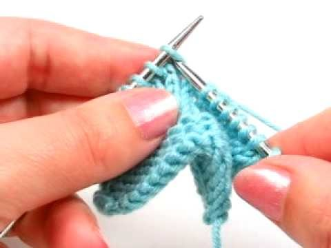 Surjete sencillo - Slip one, knit one, pass slipped stitch over decrease