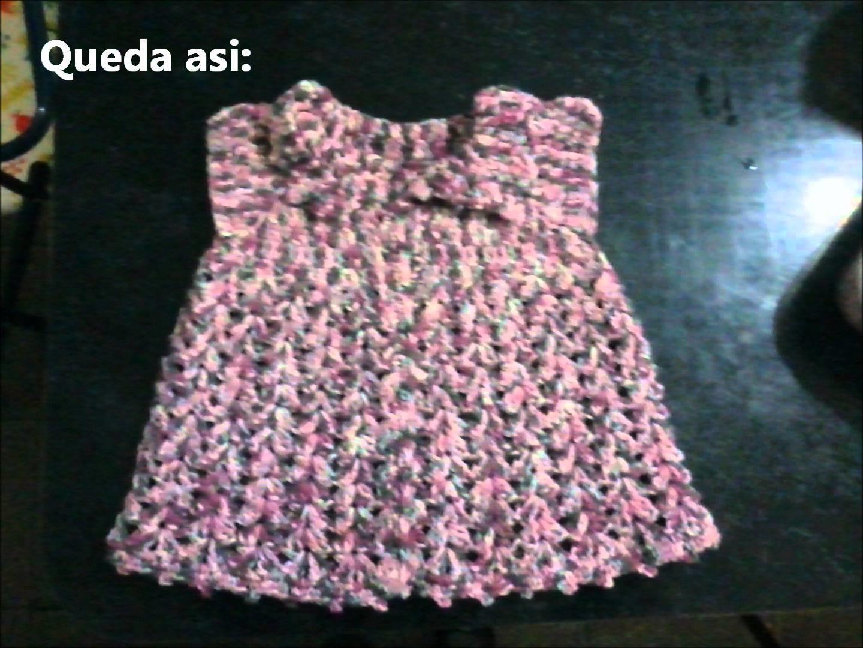 Tapadito para niña tejido a crochet (talle 12 meses).