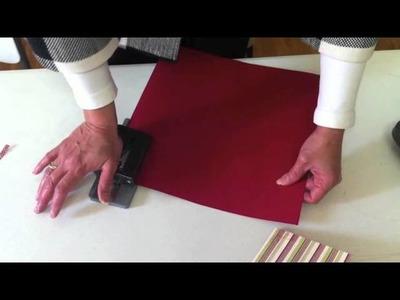 Tarjeta Navidad de Scrapbooking