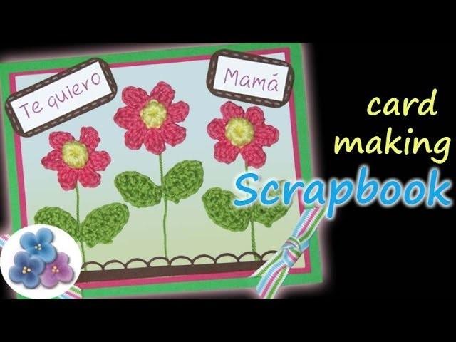Tarjetas Mama Scrapbook *Card Making* Postales Felicitaciones Tarjetas de Cumpleaños Pintura Facil