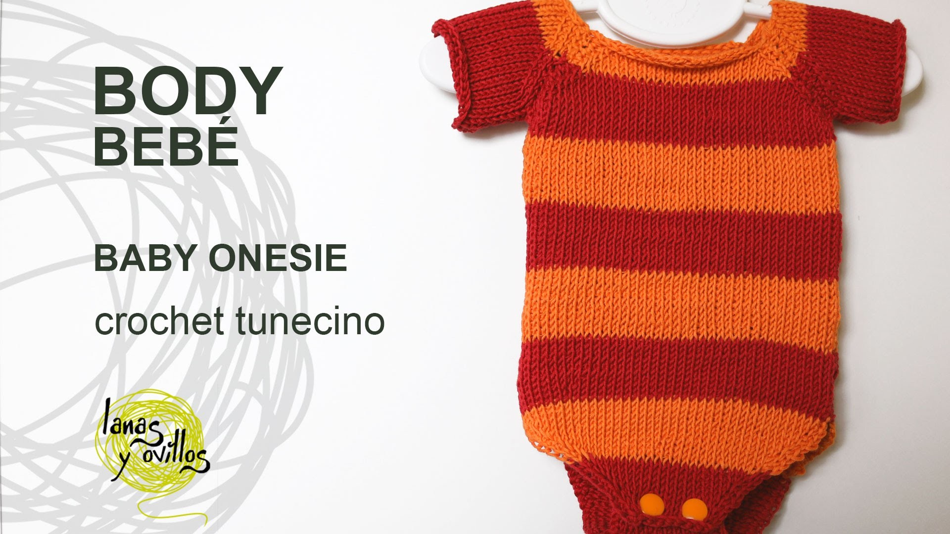 Tutorial Body Bebé Crochet o Ganchillo Tunecino Punto Jersey