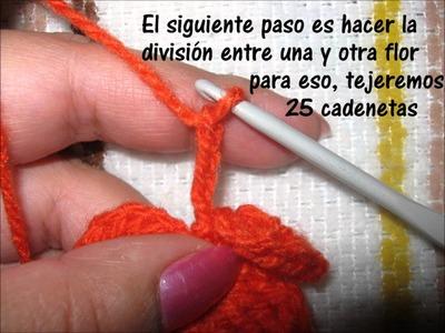Tutorial collar de flores en crochet