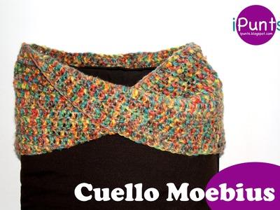 Tutorial Cuello Moebius crochet paso a paso