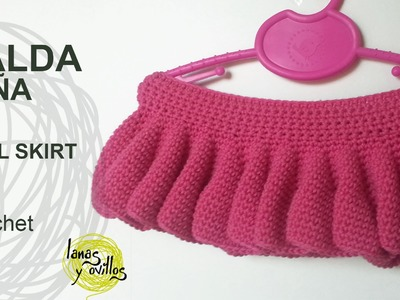 Tutorial Falda Niña Fácil Crochet o Ganchillo (todas las tallas)