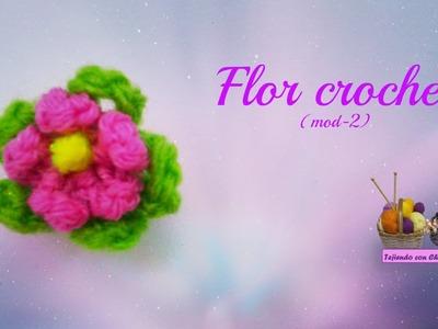 Tutorial flor crochet (mod-2)