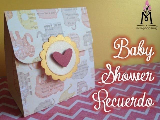 TUTORIAL Recuerditos Baby Shower.Baby Shower favors SCRAPBOOKING DECOR