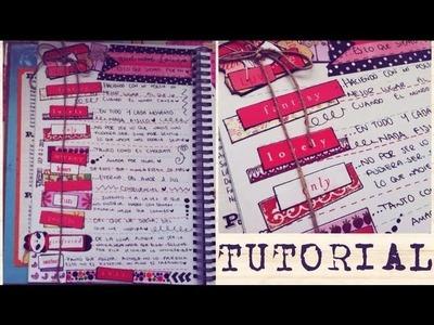 TUTORIAL SCRAPBOOK ♥ SMASH BOOK ROJO Haz una pagina conmigo ♥  02  07  2013