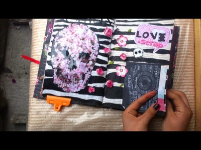 TUTORIAL SCRAPBOOK ♥ SMASH BOOK Haz una pagina conmigo ♥ (12 05 -2013)