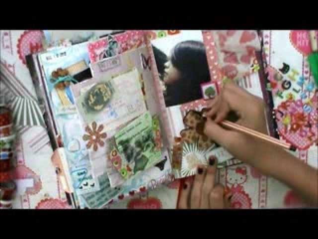 TUTORIAL SCRAPBOOK ♥ SMASH BOOK BABY Haz una pagina conmigo ♥ 31  06  2013
