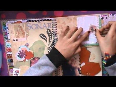 TUTORIAL SCRAPBOOK ♥ SMASH BOOK ROJO Haz una pagina conmigo ♥  21  10  2013