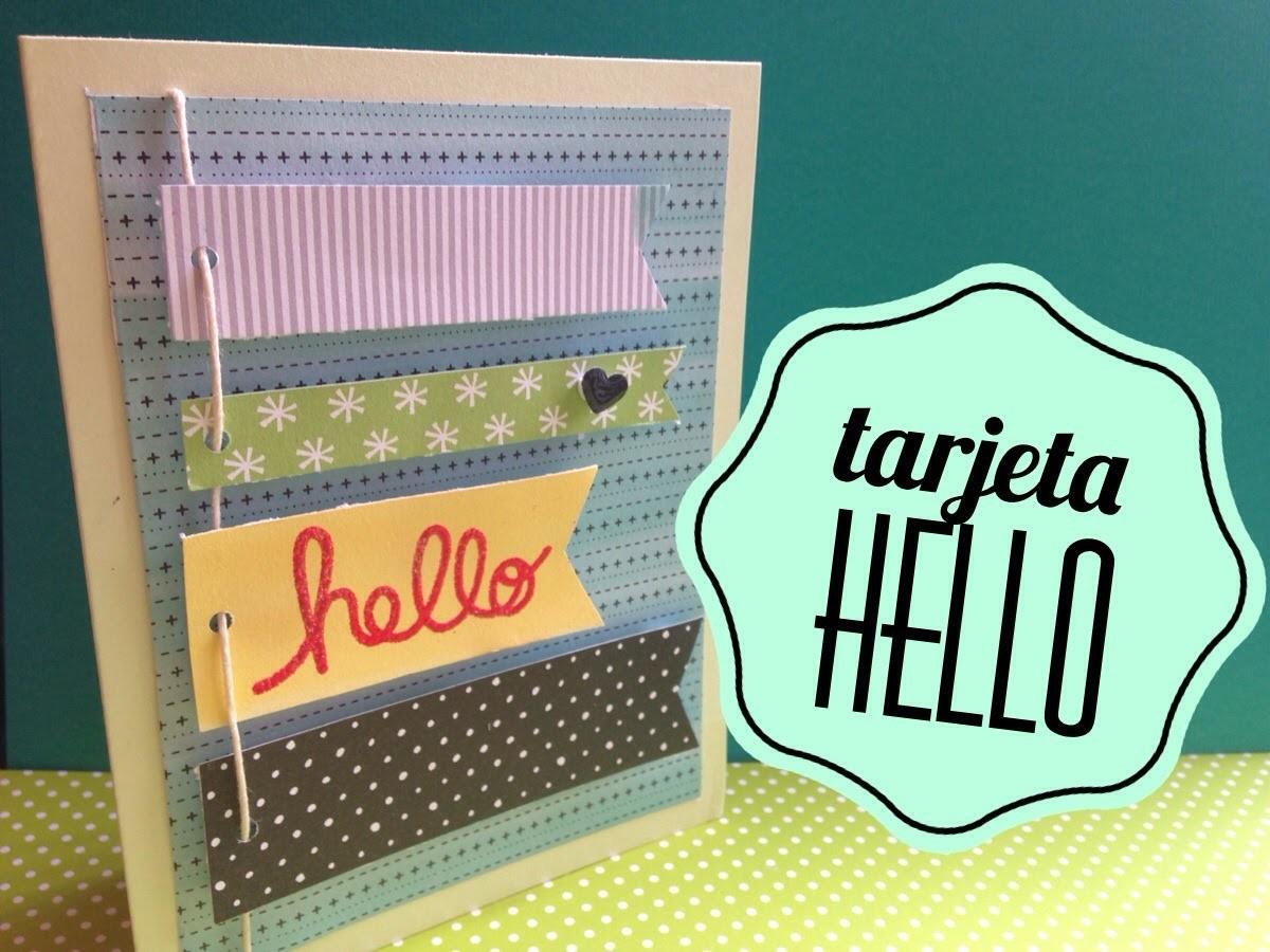 TUTORIAL Tarjeta con banners.DIY Banners card