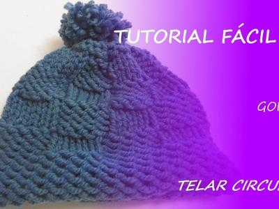 Tutorial telar circular - cómo hacer un gorro - Fácil DIY