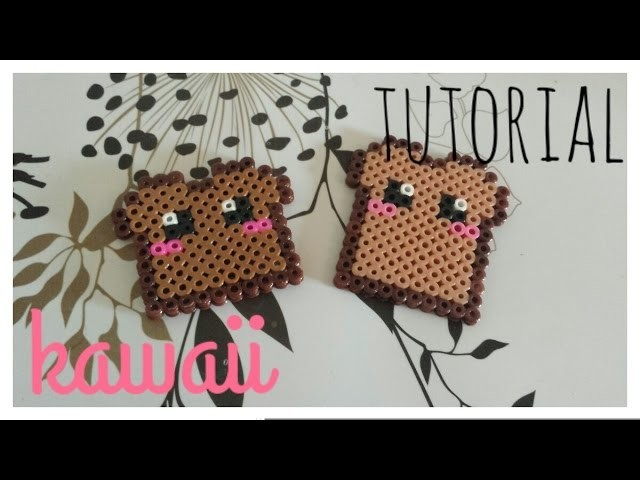 ❤ TUTORIAL: Tostada de Pan Kawaii de Hama Beads❤