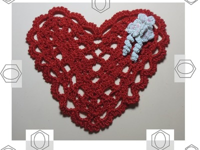 Un corazón con flores tejido a crochet 1.2