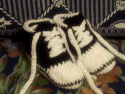 Zapatilla de bebe crochet