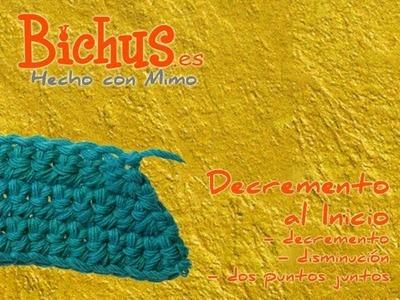 Bichus - Ganchillo Básico ZURDOS 13 : Disminuir puntos en crochet, al inicio