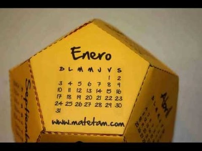 Calendario Dodecaédrico 2011 con Papiroflexia (origami)