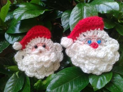 Como hacer la cara de Papa Noel a crochet.Tejemos!?