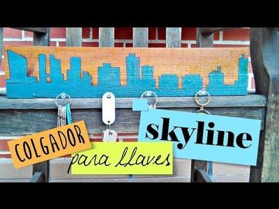 ❤ Cómo hacer un colgador de llaves Skyline ✎ | Tutorial Decoración DIY