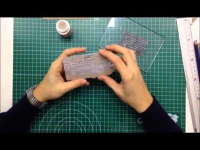 Cómo hacer y decorar tus propios tags o etiquetas - TUTORIAL Scrapbook