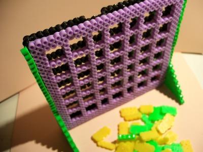 """""""Conecta 4"""" Juego de mesa con Perler Beads"""