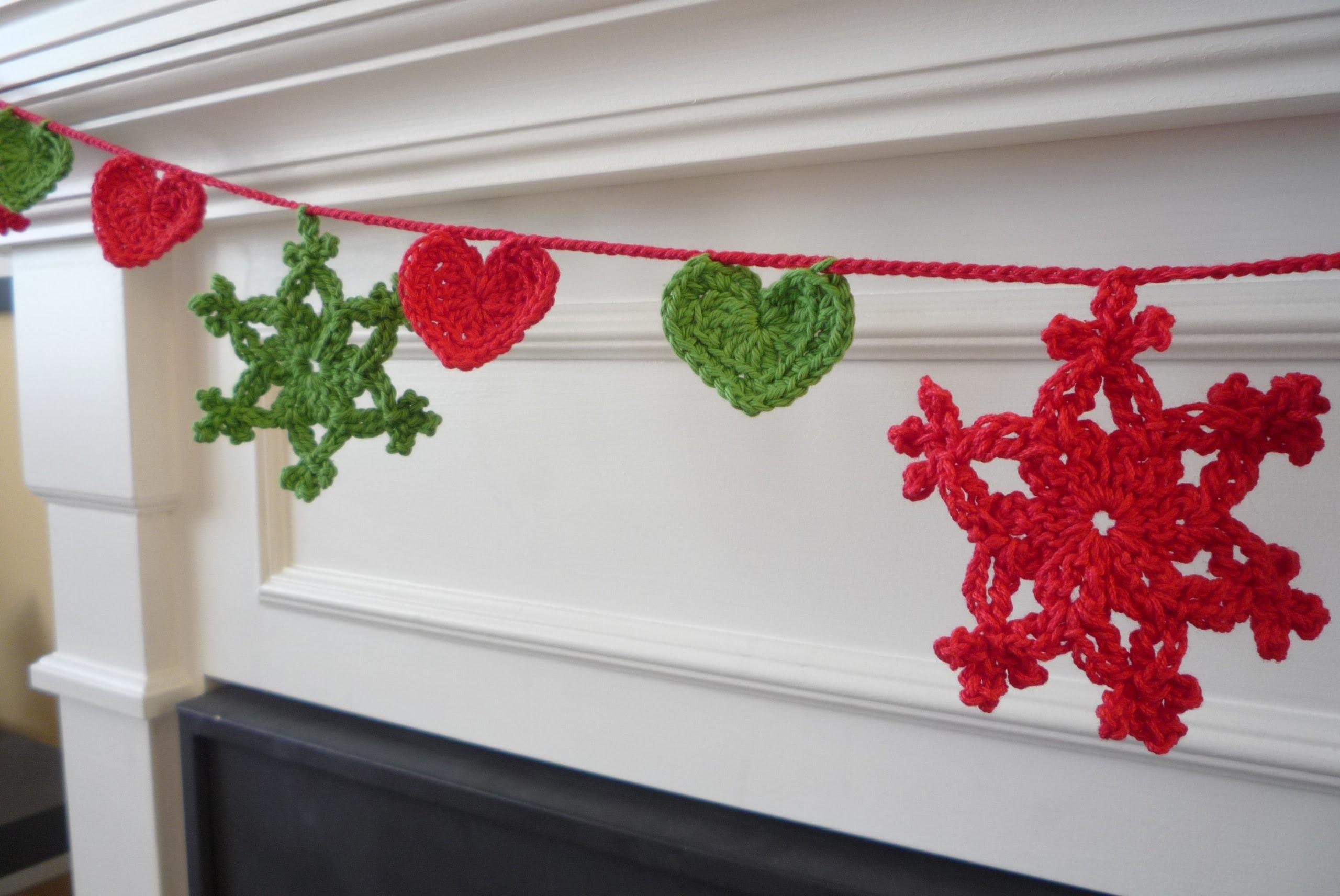 Crochet guirnalda de navidad - Guirnaldas navidad manualidades ...