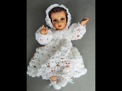 Crochet : Niño Jesus.  Escarpines