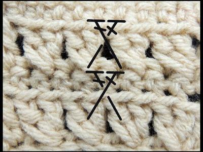 Curso Basico de Crochet : Punto Alto Cruzado
